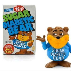 "Sugar Diabetic Bear Figure stands 3"" tall."